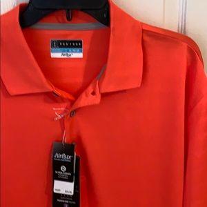 PGA Tour Polo New With Tags Orange/Peach Color